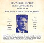 Suwannee Baptist Bible Conference - Nov. 19-30 1945 - Zeno Wall