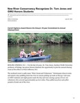 New River Conservancy Recognizes Dr. Tom Jones and GWU Honors Students