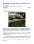Gardner-Webb University Recognizes Achievements of Undergraduate Students