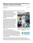 GWU Hunt School of Nursing Recognize DNP Student in Celebration of National Nurses Month