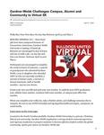 Gardner-Webb Challenges Campus, Alumni and Community to Virtual 5K