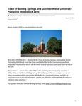 Town of Boiling Springs and Gardner-Webb University Postpone Webbstock 2020
