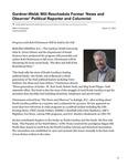 Gardner-Webb Will Reschedule Former 'News and Observer' Political Reporter and Columnist