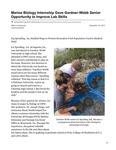 Marine Biology Internship Gave Gardner-Webb Senior Opportunity to Improve Lab Skills