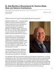 Dr. Bob Blackburn Remembered for Gardner-Webb, State and National Contributions