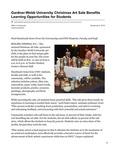 Gardner-Webb University Christmas Art Sale Benefits Learning Opportunities for Students