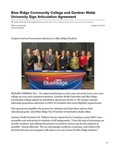 Blue Ridge Community College and Gardner Webb University Sign Articulation Agreement