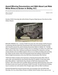 Award-Winning Documentary and Q&A About Last Male White Rhino to Screen in Shelby, N.C.