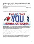 Gardner-Webb License Plate From North Carolina DMV Supports Priority Fund