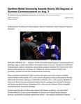 Gardner-Webb University Awards Nearly 200 Degrees at Summer Commencement on Aug. 3