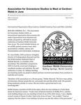 Association for Gravestone Studies to Meet at Gardner-Webb in June