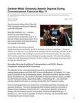Gardner-Webb University Awards Degrees During Commencement Exercises May 11