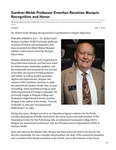 Gardner-Webb Professor Emeritus Receives Marquis Recognition and Honor