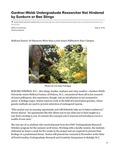 Gardner-Webb Undergraduate Researcher Not Hindered by Sunburn or Bee Stings