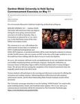 Gardner-Webb University to Hold Spring Commencement Exercises on May 11