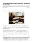 Gardner-Webb Advanced History Students Write Entries for Mobile App