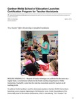 Gardner-Webb School of Education Launches Certification Program for Teacher Assistants