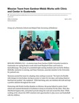 Mission Team from Gardner-Webb Works with Clinic and Center in Guatemala