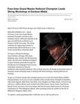 Four-time Grand Master National Champion Leads String Workshop at Gardner-Webb