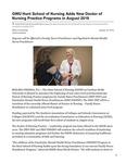 GWU Hunt School of Nursing Adds New Doctor of Nursing Practice Programs in August 2019