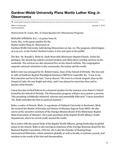 Gardner-Webb University Plans Martin Luther King Jr. Observance