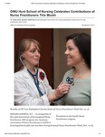 GWU Hunt School of Nursing Celebrates Contributions of Nurse Practitioners This Month