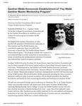 "Gardner-Webb Announces Establishment of ""Fay Webb Gardner Master Mentorship Program"""