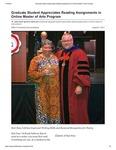 Graduate Student Appreciates Reading Assignments in Online Master of Arts Program