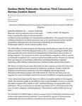 Gardner-Webb Publication Receives Third Consecutive Hermes Creative Award