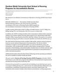 Gardner-Webb University Hunt School of Nursing Prepares for Accreditation Review