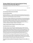 Gardner-Webb University Awards Degrees During Commencement Exercises May 6-7