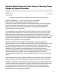 Gardner-Webb University Hunt School of Nursing Takes Pledge on Opioid Education