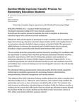Gardner-Webb Improves Transfer Process for Elementary Education Students