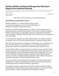 Gardner-Webb's Healthcare Management Bachelor's Degree Earns National Ranking