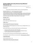 Gardner-Webb University Homecoming Weekend Planned Oct. 2-4