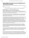 "Gardner-Webb University Announces Establishment of ""Hunt School of Nursing"""
