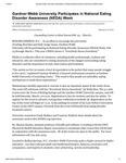 Gardner-Webb University Participates in National Eating Disorder Awareness (NEDA) Week