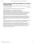 Seasonal Influenza: GWU Experts Weigh In on Flu Basics & Staying Healthy