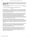 Gardner-Webb University Fall Commencement Exercises Held Dec. 16