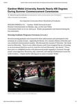 Gardner-Webb University Awards Nearly 450 Degrees During Summer Commencement Ceremonies