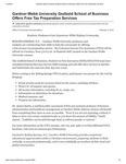 Gardner-Webb University Godbold School of Business Offers Free Tax Preparation Services