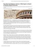 Key Voice for Religious Liberty in Washington to Speak at Gardner-Webb University
