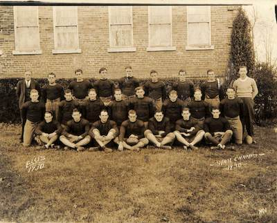 1930: Football Team Wins State Championship