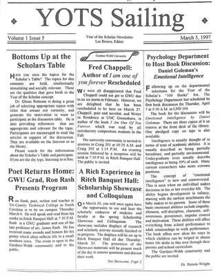 1996-97: The Year of the Scholar Program