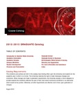 2012 - 2013, Gardner-Webb University Graduate Academic Catalog