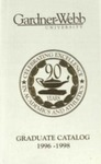 1996 - 1998, Gardner-Webb University Graduate Academic Catalog