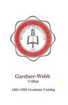 1991 - 1993, Gardner-Webb College Graduate Academic Catalog