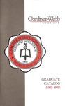 1993 - 1995, Gardner-Webb University Graduate Academic Catalog by Gardner-Webb University