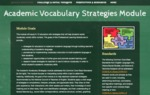Academic Vocabulary Strategies by Ginger Black, LaShay Conley, Shamona Fernanders, and Katrissa Fisher
