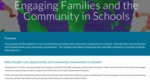 Engaging Families and the Community in Schools
